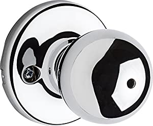 Kwikset 93001-918 Polo Privacy Bed/Bath Knob In Polished Chrome