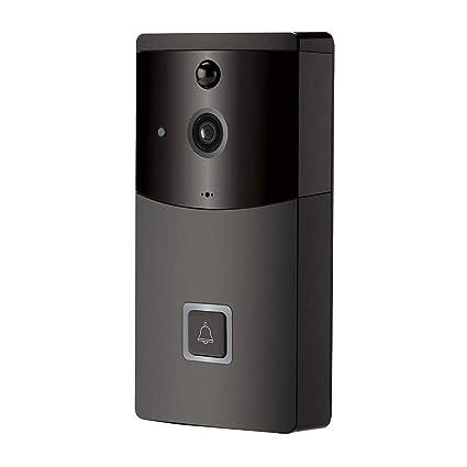 Lâ Vestmon vídeo Timbre WiFi Doorbell 720P HD Video, con interfono, Detector de Movimiento