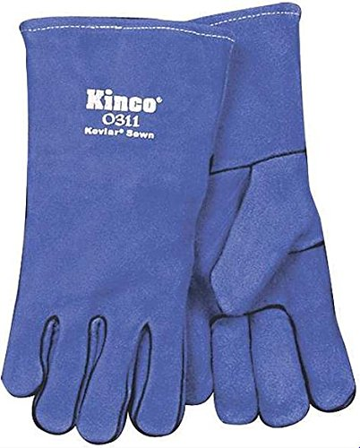 KINCO 0311-S Ladies Mini Sabres Welding Glove, Small, Blue by KINCO INTERNATIONAL