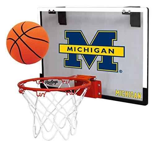 Rawlings Michigan Wolverines Game On Basketball Hoop Set