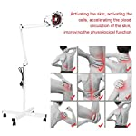 Infrared Massage Lamp with Stand Flexible Arm, Heating Therapy Lamp Body Skin Muscle Pain Massage Relief Light with Rolling Wheel/Clamp, A 275w Bulb Included