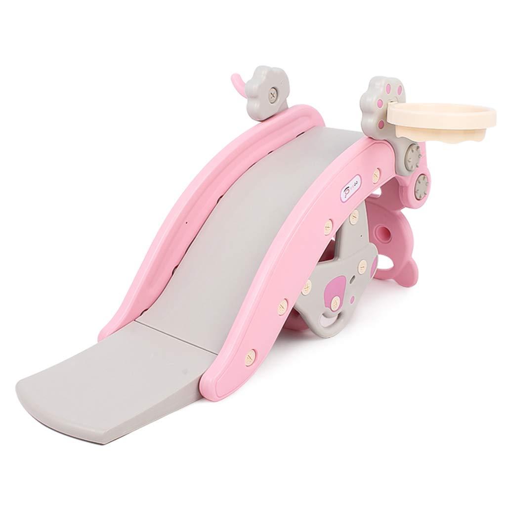Freestanding Slides Children's Slide Children's Indoor Small Playground Child Baby Baby Toy Children's Sports Equipment (Color : Pink, Size : 104cm36cm56cm)