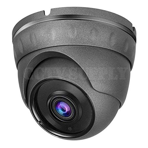 Real HD 1080P Dome HD Analog Outdoor Security Camera (Quadbrid 4-in1 HD-CVI/TVI/AHD/Analog), 2MP 1920×1080, 65ft Night Vision, Metal Housing, Wide Viewing Angle (2.8mm Gray)