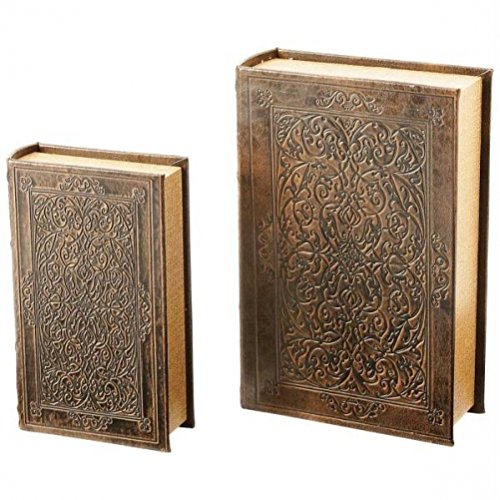 2pc Faux Book Safe Set