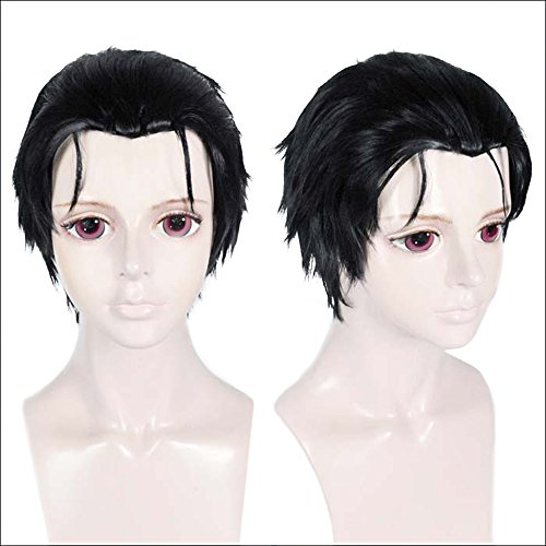 ANOGOL Hair Cap+Men's Cosplay Wig Synthetic Hair Anime Back Head Short Wigs]()