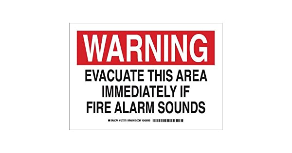 Amazon.com: Brady 127371 Seguridad contra incendios signo ...