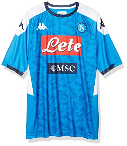 Ssc Napoli Italian Serie A Men's Replica Home Match Shirt, SkyBlue, L