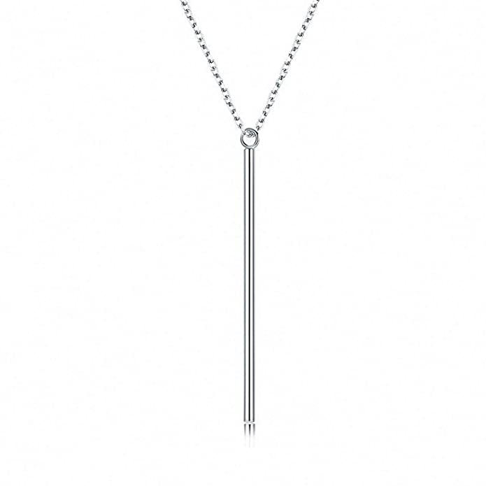 d771764bf2a Amazon.com: Kalapure 925 Sterling Silver Simple Plain Minimalist ...