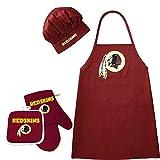 Washington Redskins NFL Barbeque Apron, Chef's Hat and Pot Holder Deluxe Set