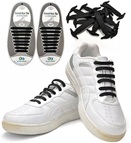 シリコンゴム製 結ばない 靴紐 (ブラック) 1組