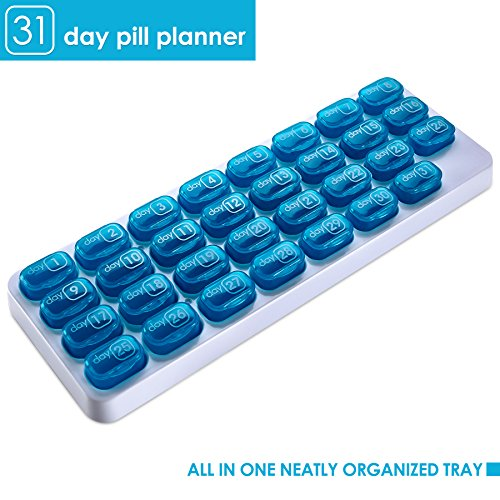Monthly Pill Organizer - 31 Day Pill Organizer with Large Removable Medication Pods, Portable Pill Case Box and Holder for Daily Medicine and Vitamins, Great for Travel by MEDca by MEDca (Image #7)