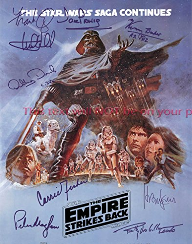 Star Wars Episode V - The Empire Strikes Back Autographed 11x14 Poster Photo