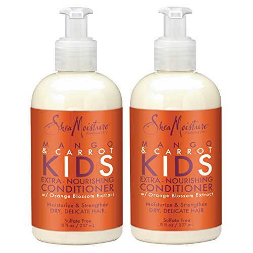 SheaMoisture Mango & Carrot KIDS, Extra-Nourishing Conditioner, Orange Blossom Extract, Dry, Delicate Hair, 8 fl oz, Pack of 2