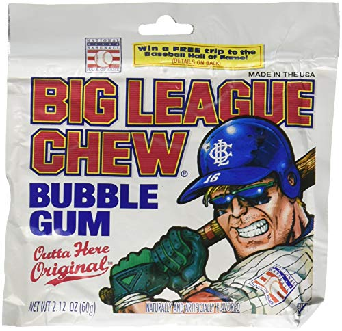 Big League Chew-Shredded Bubble Gum, 24 Packets Original -