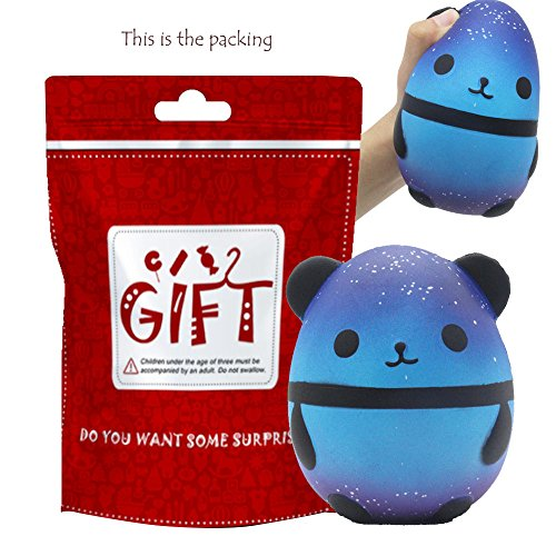 Euone  Christmas Clearance , Jumbo Galaxy Panda Squishy Slow Rising Kids Toys Collect Doll Stress Relief Toy from Euone