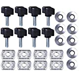 1994 jeep hard top - Hard Top Thumb Screw,Quick Removal Change Kit of 8 Tee Knobs Set For Jeep Wrangler YJ/TJ/JK 1987 - 2016(Black)