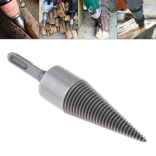 ChgImposs 32MM/1.26Inch Steel Speedy Firewood Drill Bit, Wood Splitter Screw Cone Heavy Duty Splitting Cone Driver Portable Wood Cut Tool for Hand Drill Stick Copper