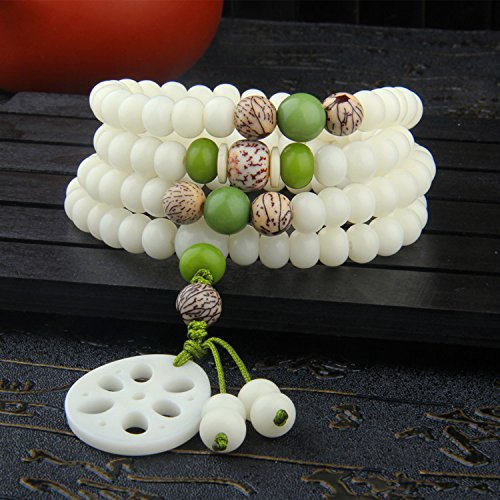 - Master Hand sanding Bodhi seed Bracelet 108pcs prayer beads with Lotus root style