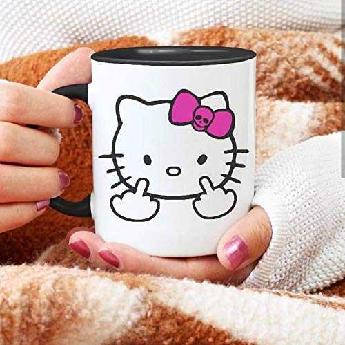 Hello Kitty Middle Finger Coffee Mug Fuck You (Hello Kitty Valentines Day Cup)