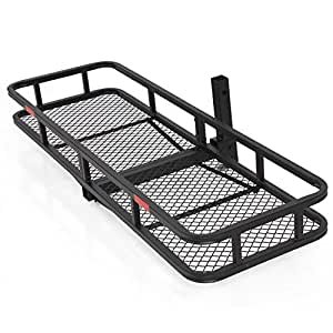 """Best Choice Products SKY1658 60"""" Folding Cargo Carrier Luggage Rack (Hauler Truck or Car Hitch 2"""" Receiver)"""