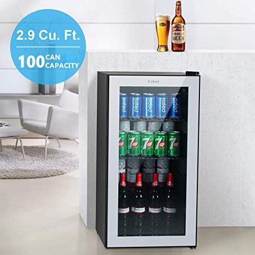 Refrigerador y enfriador de bebidas Colzer – 2,9 cu. Frigorífico ...