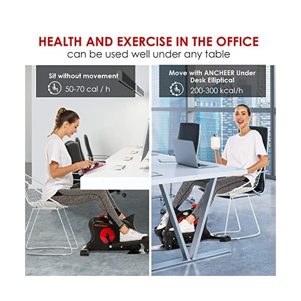 Pedal Exerciser Compact Under Desk Exercise Home Office 8 Adjustable Resistance