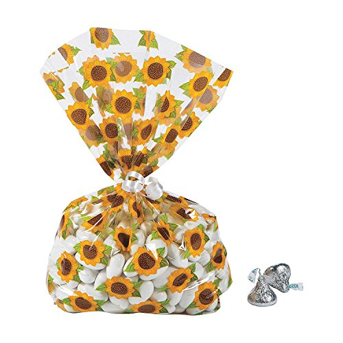 (Sunflower Cellophane Bags - 12)