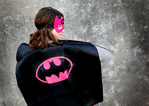 Superhero Costume Super Hero Cape and Mask Dress up, -