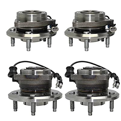 Detroit Axle - Front and Rear Wheel Bearing and Hub Assembly Set for 2012 2013 2014 2015 Chevy Captiva Sport [2007-2009 Equinox] 2007-2009 Pontiac Torrent [2008-2010 Saturn Vue] 2007-2009 Suzuki XL-7