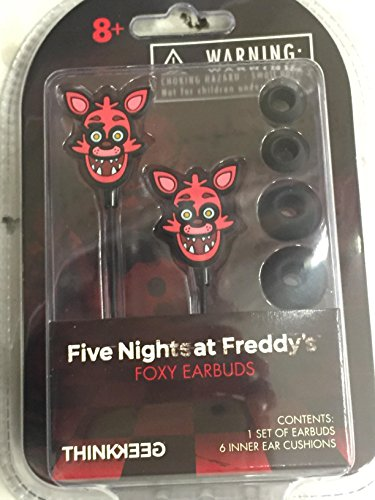 Five Nights at Freddy's FOXY Earbuds & Cushions for MP3 iPod iPhone