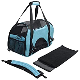 EliteField Soft Sided Pet Carrier (3 Year Warranty, Airline Approved), Multiple Sizes and Colors Available (Medium: 17\