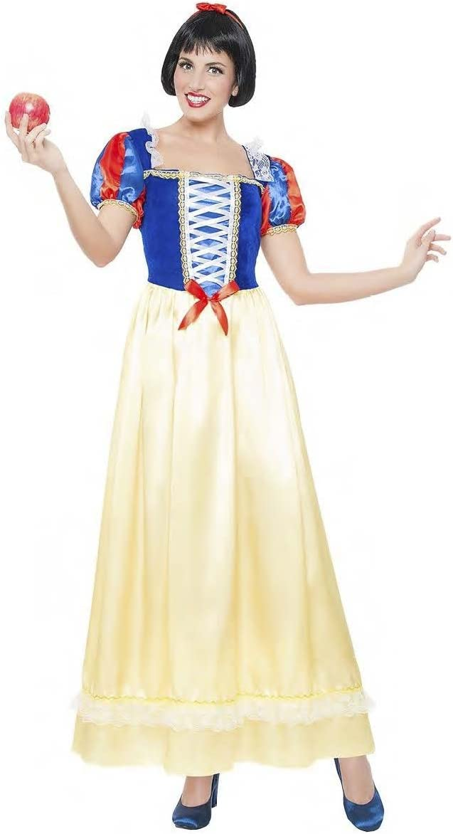 DISFRAZ BLANCANIEVES LARGO TALLA S TAMAÑO ADULTO: Amazon.es ...