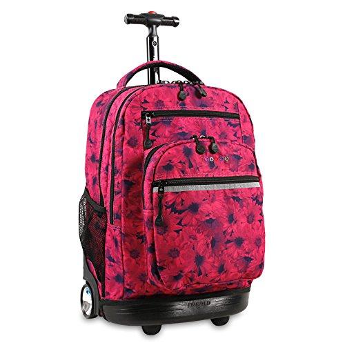 - J World New York Sundance Rolling Backpack, BELLIS, One Size