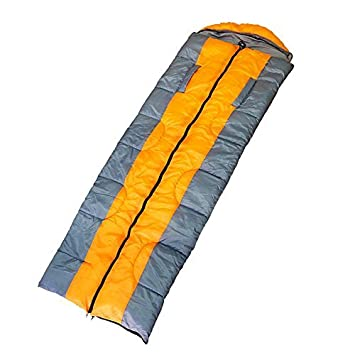Outdoor Adult Sleeping Bag with Exclusive Outstretch Hands Design, Warm Combinable Design Envelope Shape Single for Cool-weather Camping, Sports, Hiking, Travelling, Backpacking and Biking