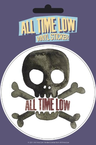 All time low skull vinyl sticker