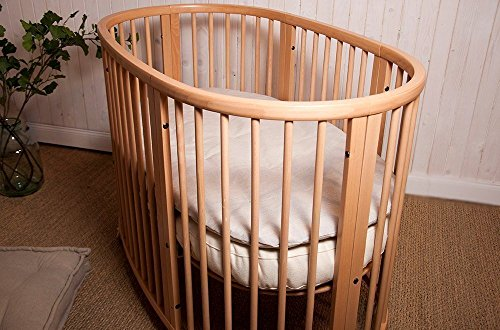 Home of Wool / Wool-Filled Topper / STOKKE Sleepi Bed-size / Chemical-free 2'' Pillowtop / Non-Toxic Nursery Bedding / Cotton, Linen, Natural Silk, Lambswool Cover / Custom Sizes Available by Home Of Wool