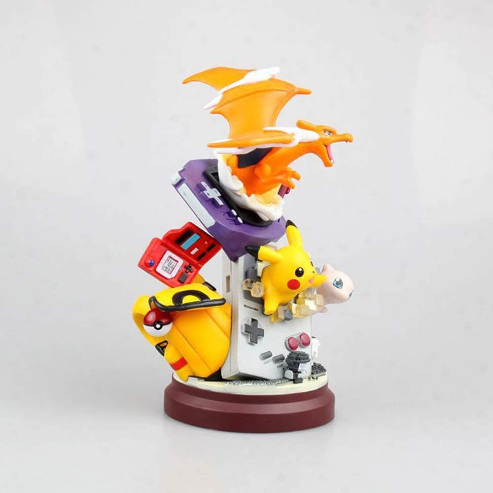KaiWenLi Pokemon Pikachu Charizard Mew Collection of Game Character Models PVC Material Graphic Statue Collectibles//Decorations//Decorations//Adult Toys//New Year