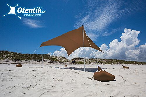 Otentik Beach Sunshade - with Sandbag Anchors - The Original Sunshade Since 2011 (Island Shade Tent)