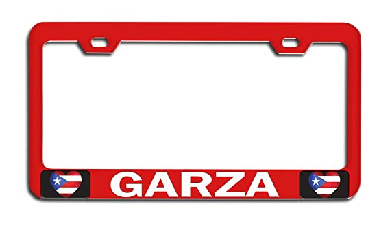 Superieur Amazon.com: Makoroni   GARZA Puerto Rico Rican Rd Metal Auto License Plate  Frame, License Tag Holder: Automotive