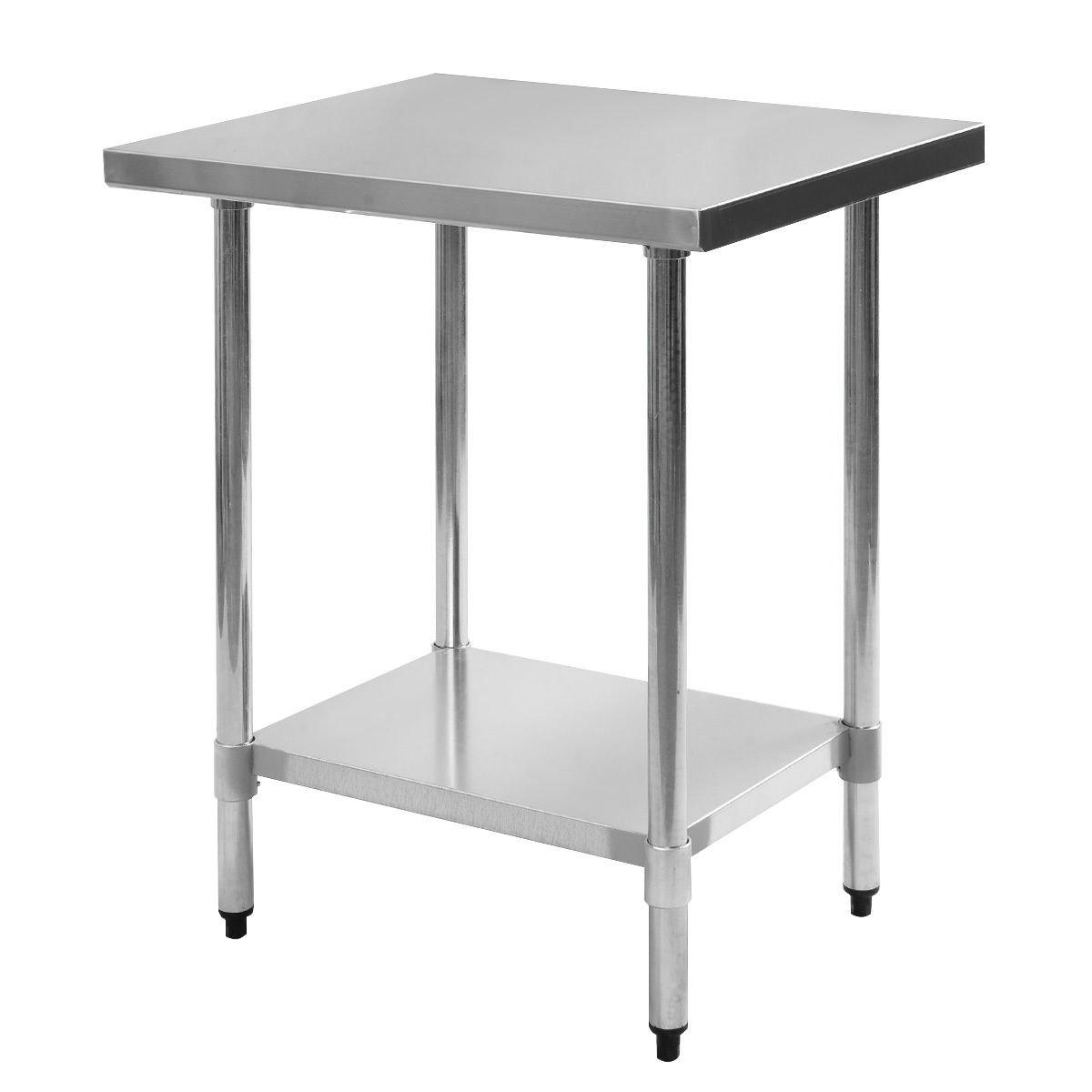 Giantex Stainless Steel Work Prep Table Commercial Kitchen Restaurant (24'' x 30'' )