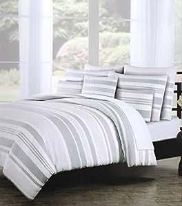 Amazon Com Tahari Bedding Elegant Cotton Chambray