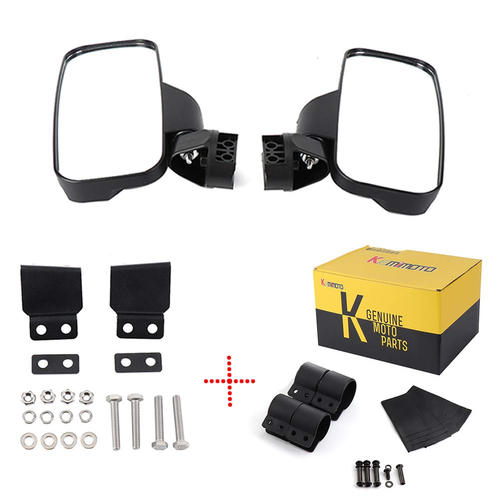Ranger 570 900 XP Side View Mirrors for UTV with Lock and Ride Cab System/Heavy Duty Large Size KEMIMOTO Rear View Mirrors also fit 2015 2017 2018 2019 Polaris RZR 900 1000 Can am Kawasaki Mule