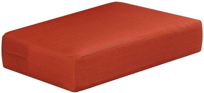 Martha Stewart Living Charlottetown Replacement Outdoor Ottoman Cushion 1, Quarry Red
