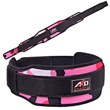 "ARD CHAMPS Weight Lifting Belt with Double Gym Back Support Training 5"" Wide Belts All Colors"