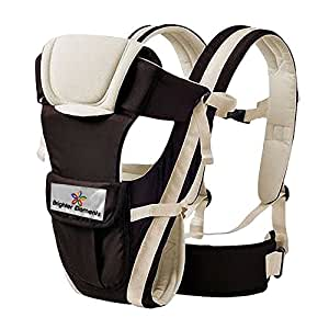 Baby Carrier by Brighter Elements - BEST for Infant, Toddler, & Child - 4 Carrying Positions - Lightweight & Ergonomic Carriers - For Moms & Dads - Flexible & 100% Cotton