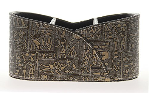 Pattern Leather Desktop Organizer - Egyptian Pattern Oval 3