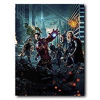 Placa Decorativa MDF Ambientes 30 cm x 20 cm - Os Vingadores The Avengers (BD01)