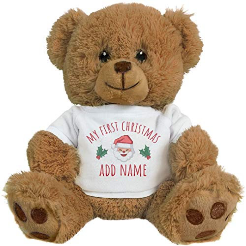 (Custom My 1st Christmas for Baby: 8 Inch Teddy Bear Stuffed Animal)