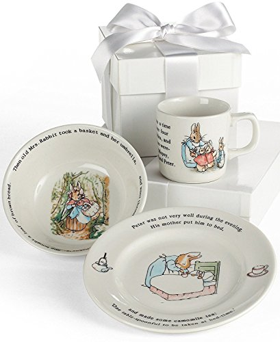 Wedgwood Peter Rabbit 3-Piece Dinnerware Place Setting, Service for 1