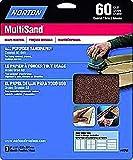 FixtureDisplays Sandpaper, 9'' X 11'' 80 COARSE ALL PURPOSE HANDY PACK 3 sh pk - 5pks 13003 13003-149387